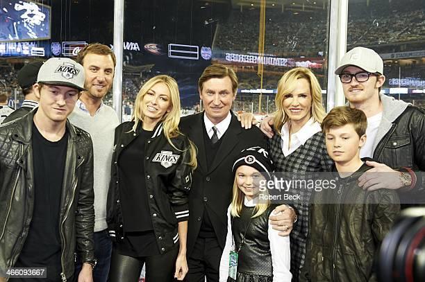 NHL Stadium Series Ty Gretzky golfer Dustin Johnson Paulina Gretzky Emma Gretzky Janet Jones Gretzky former Los Angeles Kings player Wayne Gretzky...