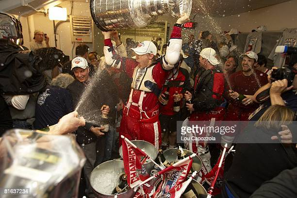Stanley Cup Finals: Detroit Red Wings Valtteri Filppula with Stanley Cup celebrate Game 6 win vs Pittsburgh Penguins. Pittsburgh, PA 6/4/2008 CREDIT:...