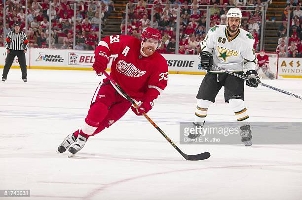 NHL Western Conference Finals Detroit Red Wings Kris Draper in action vs Dallas Stars Game 5 Detroit MI 5/17/2008 CREDIT David E Klutho