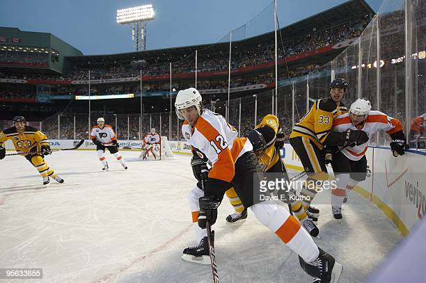 35f716950 NHL Winter Classic Philadelphia Flyers Simon Gagne and Matt Carle in action  vs Boston Bruins Michael