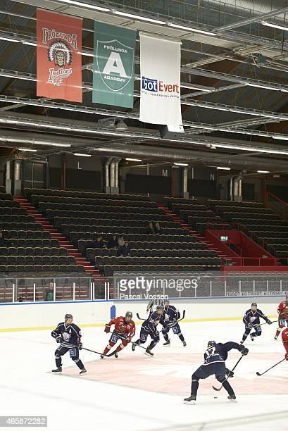 Overall view of Junior B tournament game between Frolunda HC and Linkoping HC at Frolundaborgs Isstadion Gothenburg Sweden CREDIT Pascal Vossen