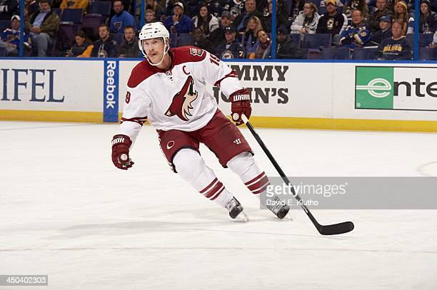 Phoenix Coyotes Shane Doan in action vs St Louis Blues at Scottrade Center St Louis MO CREDIT David E Klutho