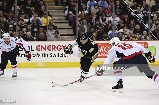 Pittsburgh Penguins Evgeni Malkin in action pass vs Washington Capitals Pittsburgh PA 1/21/2010 CREDIT Fred Vuich