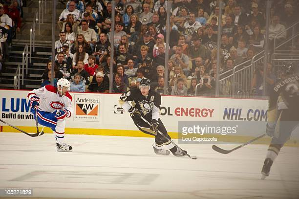 Pittsburgh Penguins Evgeni Malkin in action vs Montreal Canadiens Pittsburgh PA 10/9/2010 CREDIT Lou Capozzola