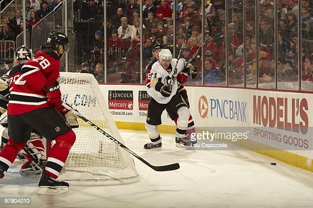 Pittsburgh Penguins Evgeni Malkin in action vs New Jersey Devils Newark NJ 3/12/2010 CREDIT Lou Capozzola