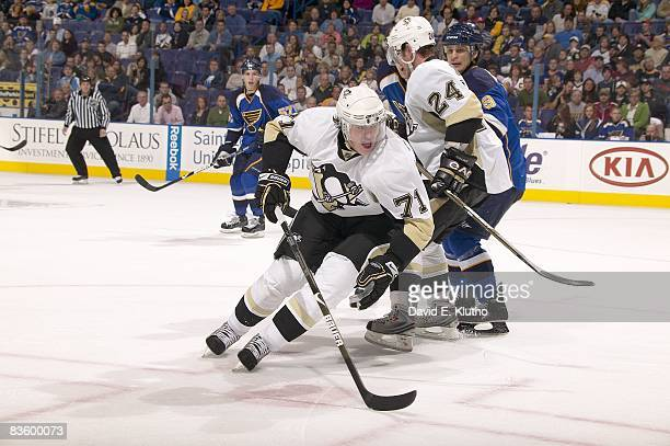 Pittsburgh Penguins Evgeni Malkin in action vs St Louis Blues St Louis MO 11/1/2008 CREDIT David E Klutho