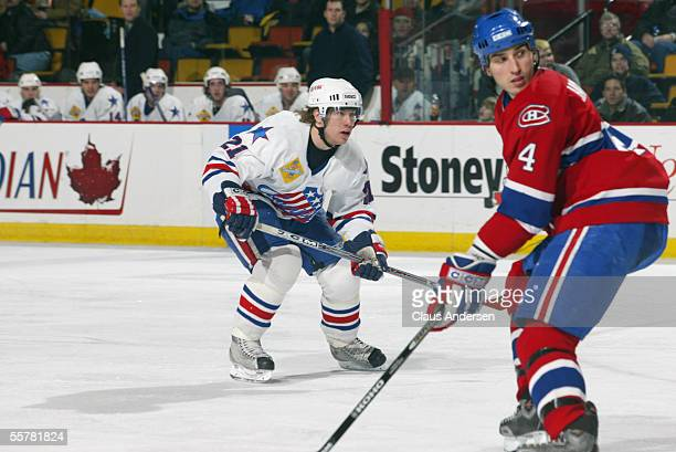 Hockey player Derek Roy of the Rochester Americans skates on the ice during a game against the Hamilton Bulldogs March 27 2005