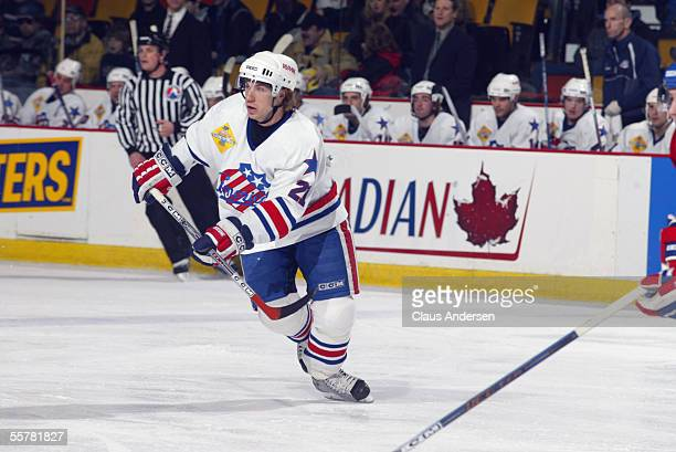 Hockey player Derek Roy of the Rochester Americans skates on the ice during a game against the Hamilton Bulldogs, March 27, 2005.