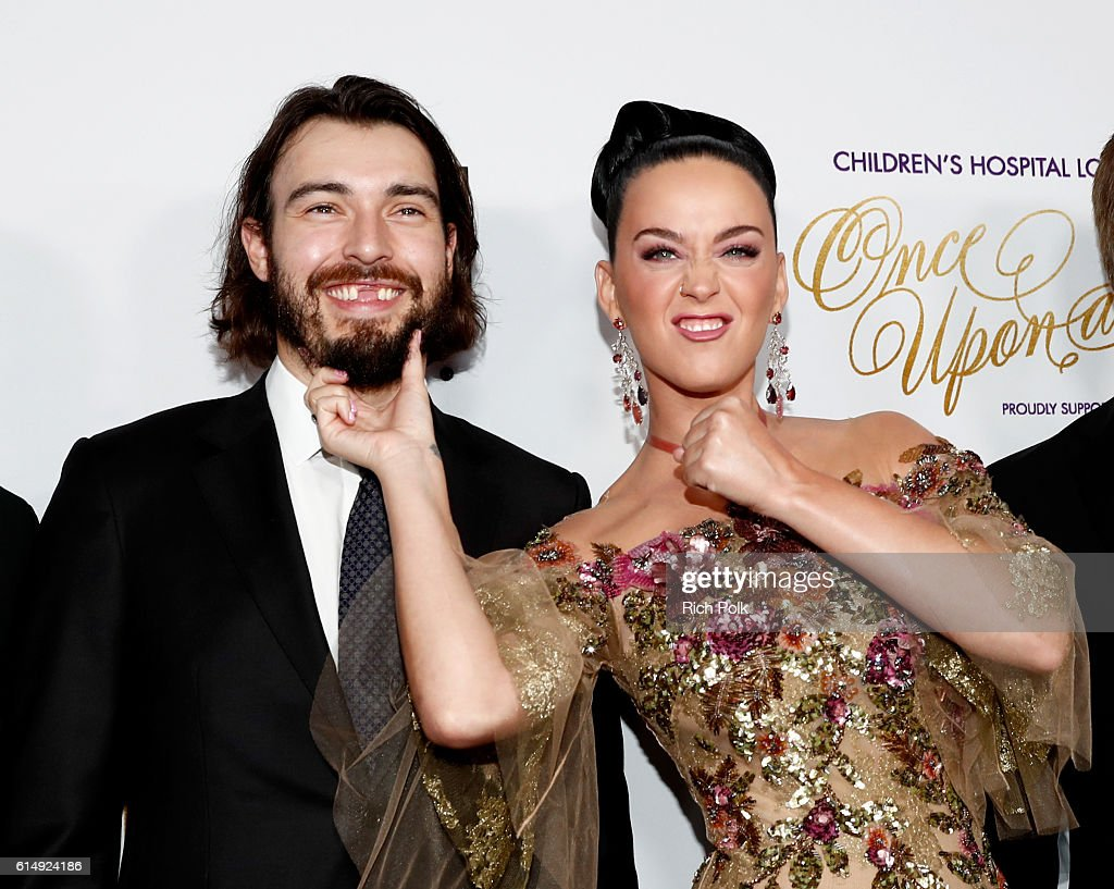 Hockey player Drew Doughty (L) and singer Katy Perry attend 2016 Children's Hospital Los Angeles 'Once Upon a Time' Gala at The Event Deck at L.A. Live on October 15, 2016 in Los Angeles, California.