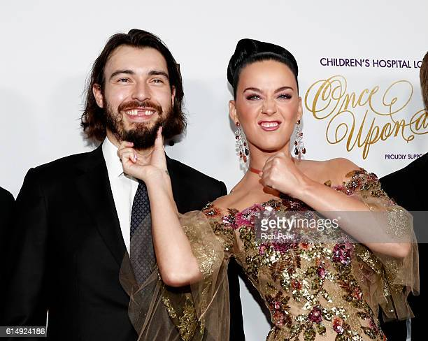 """Hockey player Drew Doughty and singer Katy Perry attend 2016 Children's Hospital Los Angeles """"Once Upon a Time"""" Gala at The Event Deck at L.A. Live..."""
