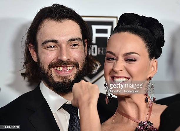 Hockey player Drew Doughty and singer Katy Perry attend the 2016 Children's Hospital Los Angeles Once Upon a Time Gala at LA Live Event Deck on...