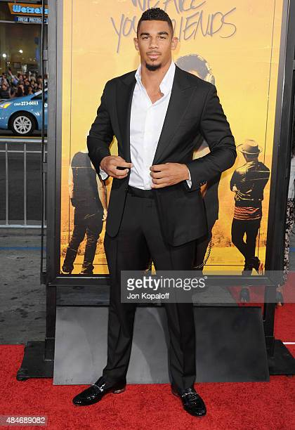 NHL hockey player Evander Kane arrives at the Los Angeles Premiere 'We Are Your Friends' at TCL Chinese Theatre on August 20 2015 in Hollywood...
