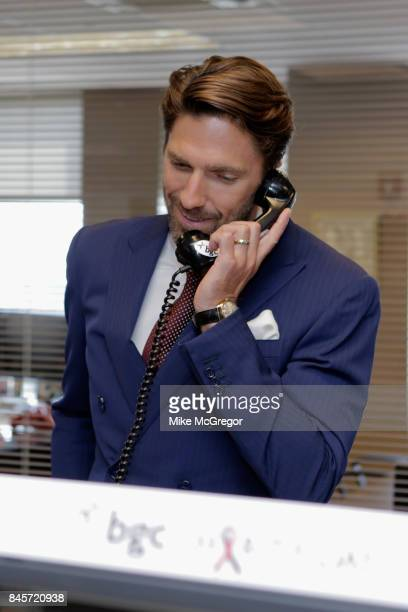 NHL hockey player Henrik Lundqvist attends Annual Charity Day hosted by Cantor Fitzgerald BGC and GFI at BGC Partners INC on September 11 2017 in New...