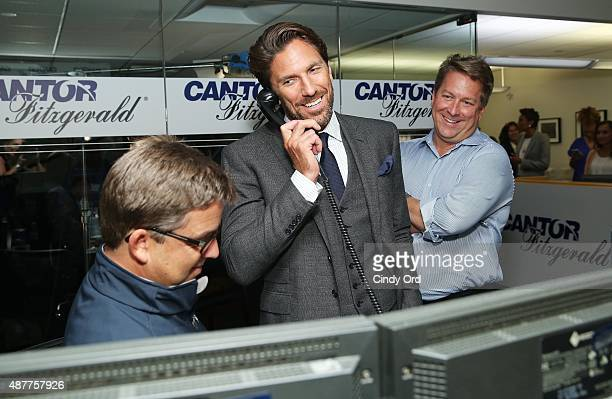 Hockey player Henrik Lundqvist attends the annual Charity Day hosted by Cantor Fitzgerald and BGC at Cantor Fitzgerald on September 11 2015 in New...