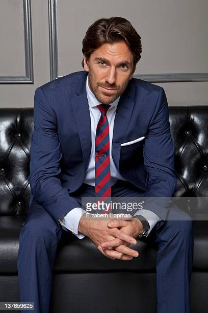 Hockey player Henrik Lundqvist from the New York Rangers is photographed for New York Post on November 17 2011 in New York City