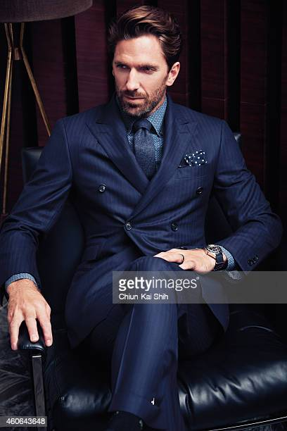 Hockey player Henrik Lundqvist is photographed for Gotham Magazine on August 26 2014 in New York City PUBLISHED IMAGE