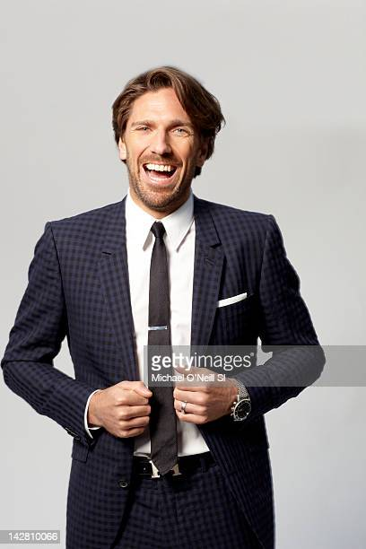 Hockey player Henrik Lundqvist poses for Sports Illustrated on March 31 2012 in New York City CREDIT MUST READ Michael O'Neill/Sports Illustrated via...