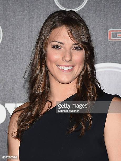 Hockey Player Hilary Knight arrives at the ESPN's BODY at ESPY's PreParty at Lure on July 15 2014 in Hollywood California