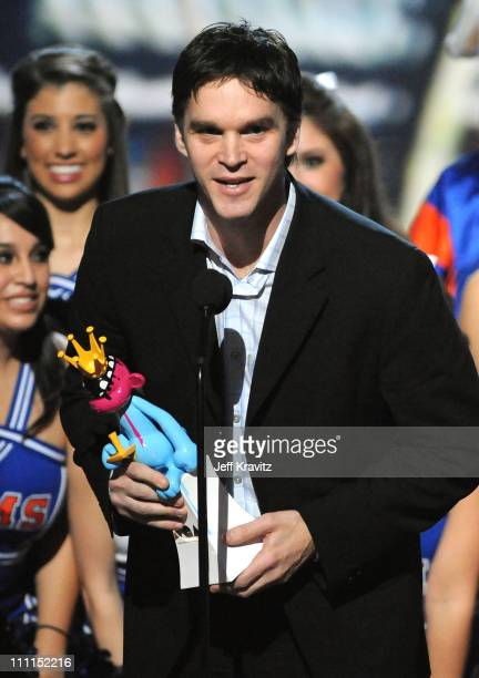 Hockey Player Luc Robitaille onstage at Spike TV's 7th Annual Video Game Awards at the Nokia Event Deck at LA Live on December 12, 2009 in Los...