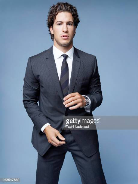 Hockey player Michael Del Zotto is photographed for Esquire Magazine on August 15 2012 in New York City