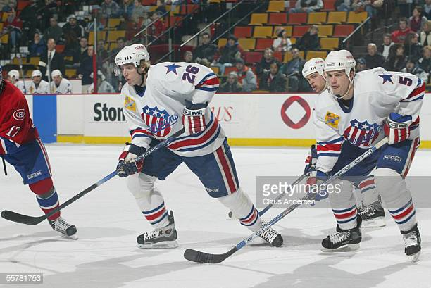 Hockey player Thomas Vanek of the Rochester Americans skates on the ice during a game against the Hamilton Bulldogs March 27 2005