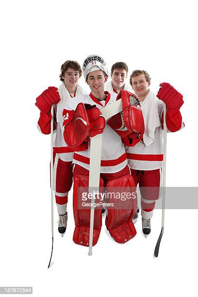 hockey players and best friends - hockey player stock pictures, royalty-free photos & images