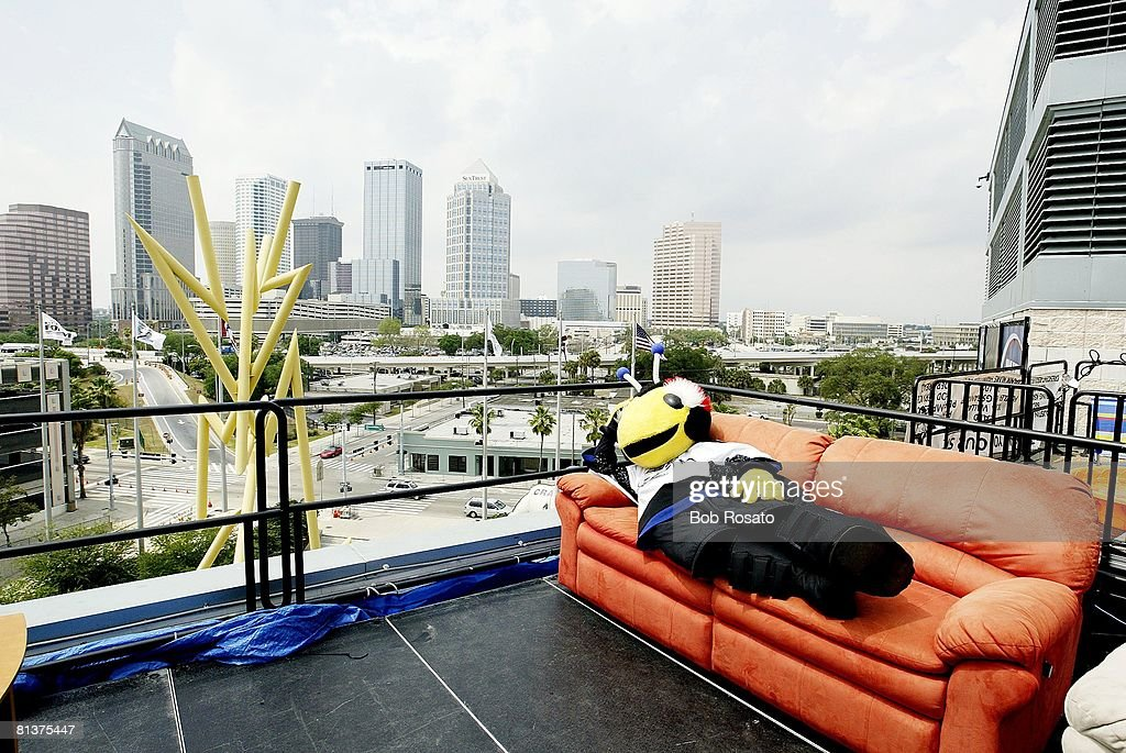 Playoffs Scenic View Of Tampa Bay Lightning Mascot On