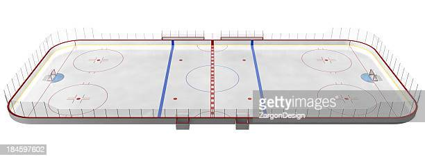 hockey rink - hockey rink stock photos and pictures