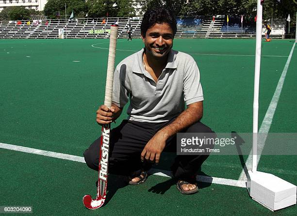 Hockey Shailendra Singh of Central Railway poses for the lens at the BHA stadium in Mumbai
