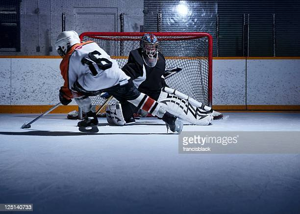 hockey shoot out - hockey stock pictures, royalty-free photos & images