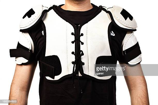 hockey shoulder pads - padding stock pictures, royalty-free photos & images