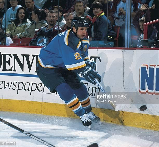 Hockey St Louis Blues Al MacInnis in action vs Colorado Avalanche Denver MO 12/4/1998