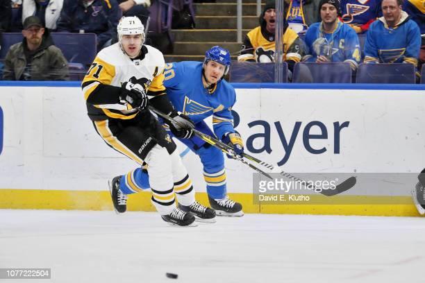 St Louis Blues Alexander Steen in action vs Pittsburgh Penguins Evgeni Malkin at Enterprise Center St Louis MO CREDIT David E Klutho
