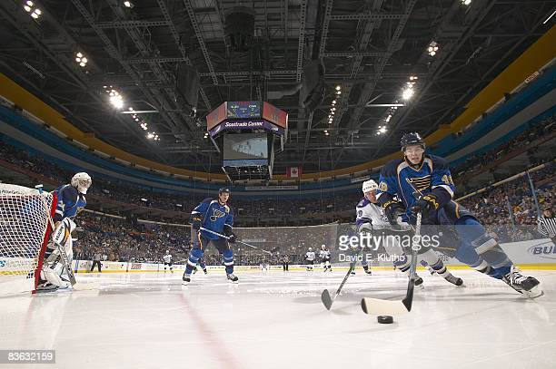 St Louis Blues Steve Wagner in action vs Los Angeles Kings Kyle Calder St Louis MO CREDIT David E Klutho