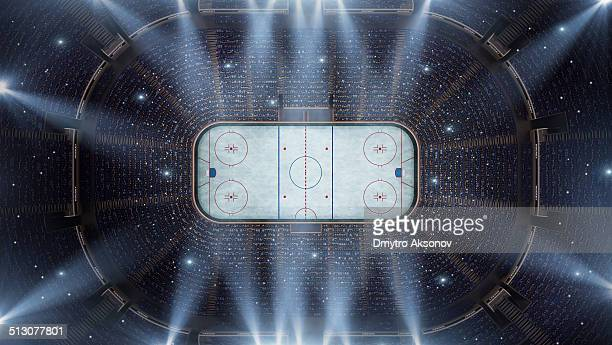 hockey stadium arena bird eye view - sports league stock pictures, royalty-free photos & images
