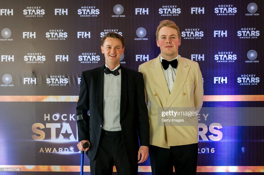 Hockey Stars Awards 2016 Social Media contest winners poses for a picture during the FIH Hockey Stars Awards 2016 at Lalit Hotel on February 23 2017..