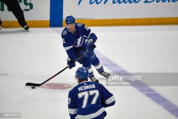 Tampa Bay Lightning Brayden Point in action vs Toronto Maple Leafs at Amalie Arena Tampa FL CREDIT David E Klutho