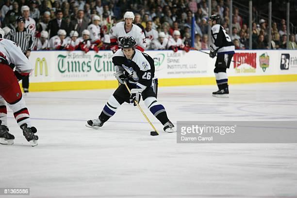 Hockey Tampa Bay Lightning Martin St Louis in action vs Carolina Hurricanes Tampa FL