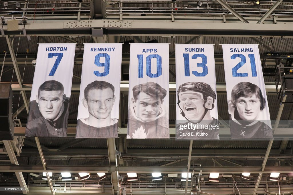 View Of Banners Up In Rafters Of Toronto Maple Leafs Retired Numbers News Photo Getty Images