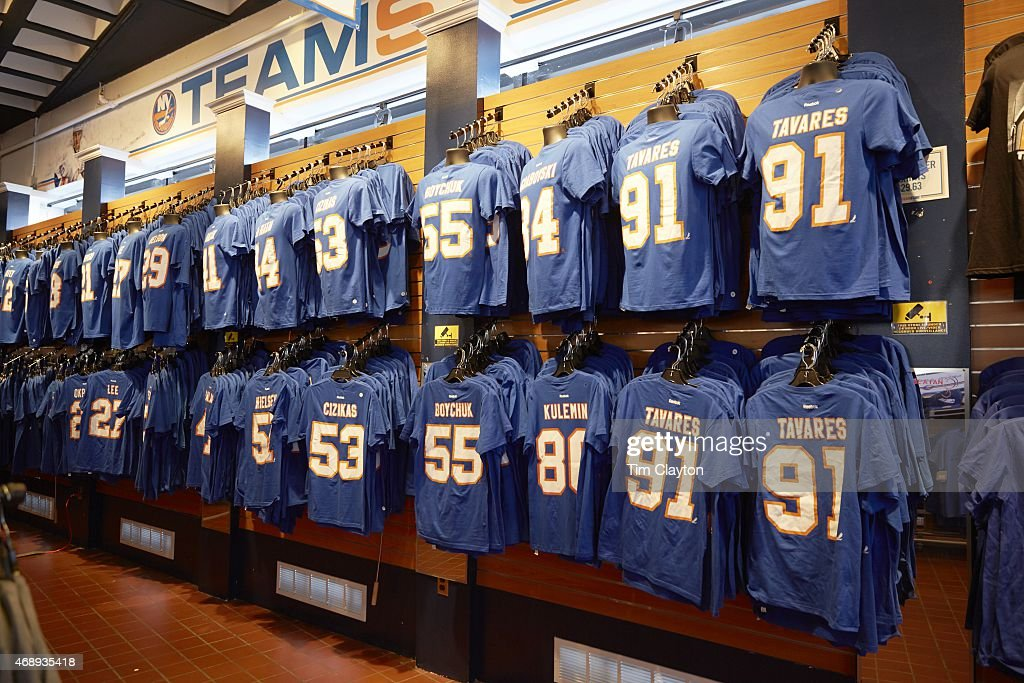 separation shoes 5a9c6 aaa90 View of New York Islanders players tee shirts in Teamstore ...