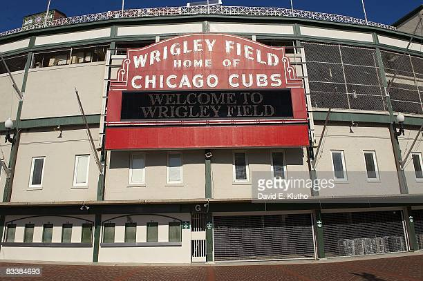 View of Wrigley Field site of the 2009 NHL Winter Classic outdoor game between Chicago Blackhawks and Detroit Red Wings Chicago IL CREDIT David E...