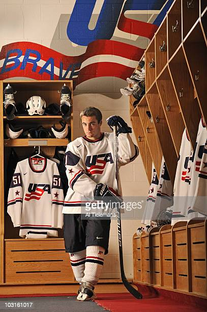 Where Will They Be: Portrait of USA Hockey National Team Development Program center Rocco Grimaldi during photo shoot at Ann Arbor Ice Cube....