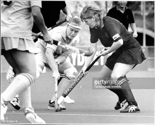 HockeyNSW V WANSW Alyson Annan amp WA Katie Starr July 9 1993