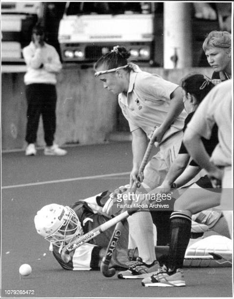 HockeyNSW V WANSW Alyson Annan beats WA Goal Keeper Karen Marsden July 9 1993