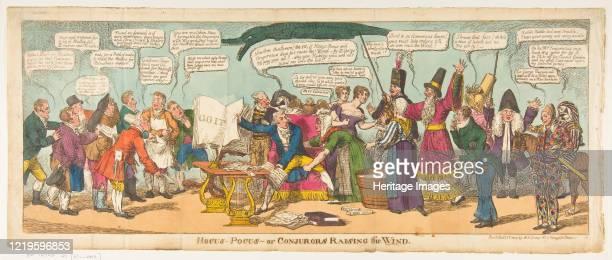 Hocus Pocusor Conjurors Raising the Wind October 1 1814 Artist Charles Williams