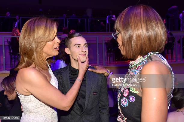 Hoda Kotb Adam Rippon and Gayle King attend the 2018 TIME 100 Gala at Jazz at Lincoln Center on April 24 2018 in New York City