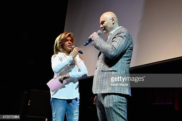 Hoda Kotb and Billy Corgan of The Smashing Pumpkins speak on stage as Live Nation Celebrates National Concert Day At Their 2015 Summer Spotlight...