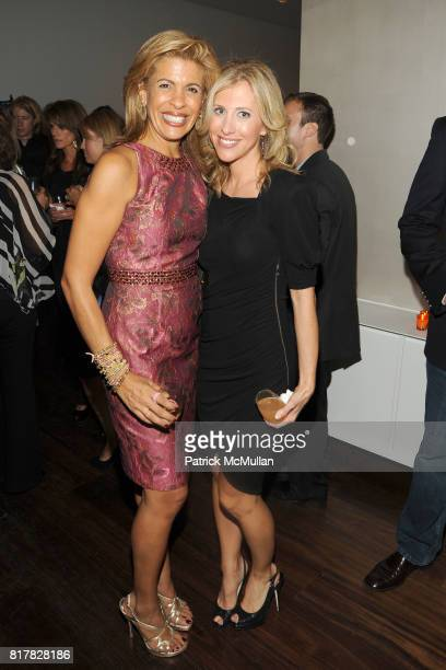 Hoda Kotb and Emily Giffin attend HODA KOTB Celebrates Hoda How I Survived War Zones Bad Hair Cancer and Kathie Lee at Deutsch Residence on October...