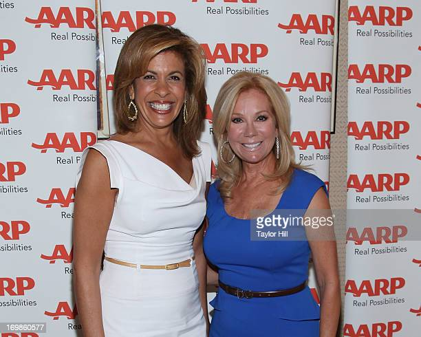 Hoda Kotb and Kathie Lee Gifford attend the Hoda Kotb And Kathie Lee Gifford AARP Magazine Cover Celebration at Le Bernardin on June 3 2013 in New...