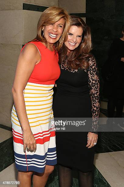 """Hoda Kotb and Maria Shriver attend the """"Paycheck To Paycheck: The Life And Times Of Katrina Gilbert"""" premiere at HBO Theater on March 13, 2014 in New..."""